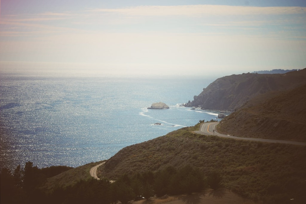 Highway along the Pacific coast