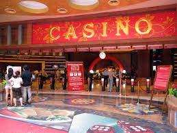 The entrance to Casino in Singapore