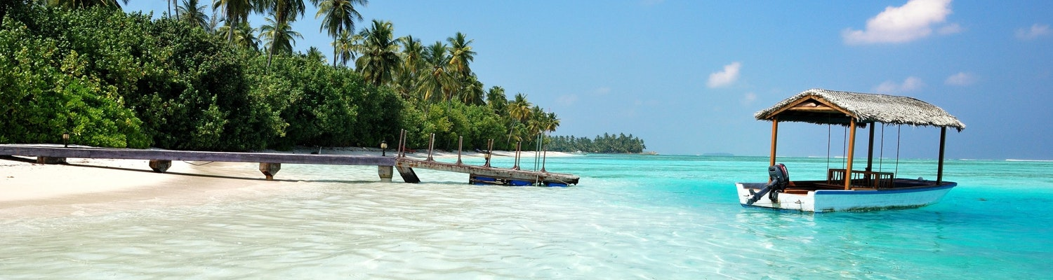 A picture of a beach in the Maldives