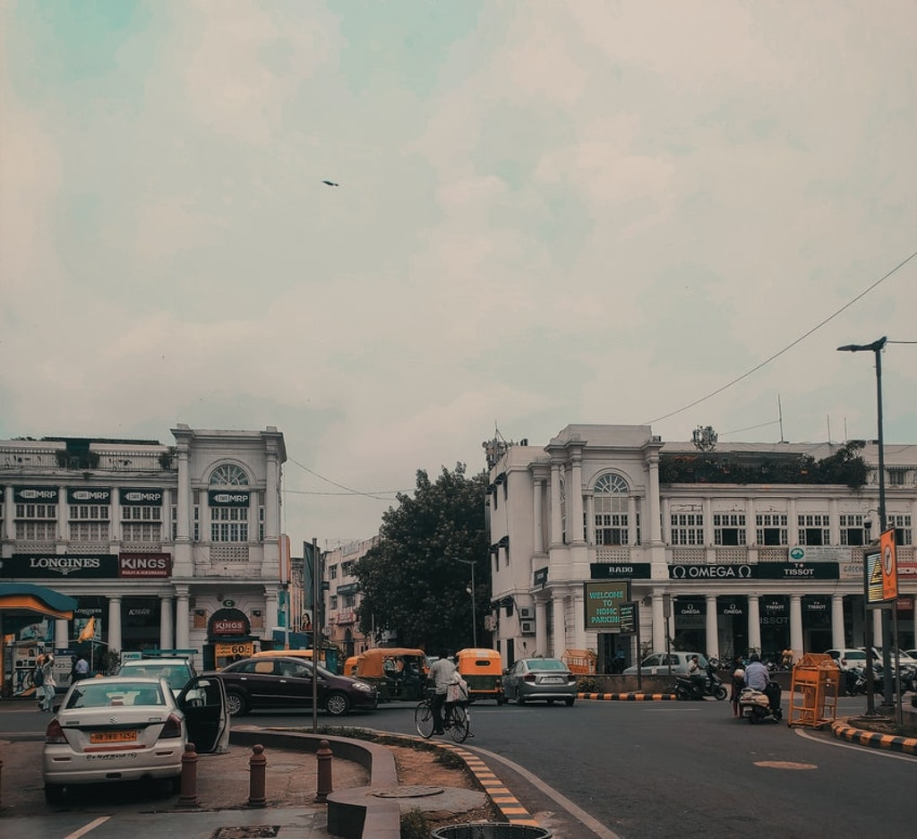 Roads in the Connaught Place, Delhi