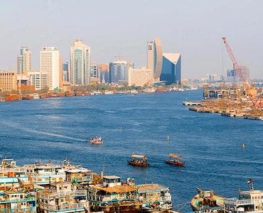 Aerial View of Dubai Wharfage