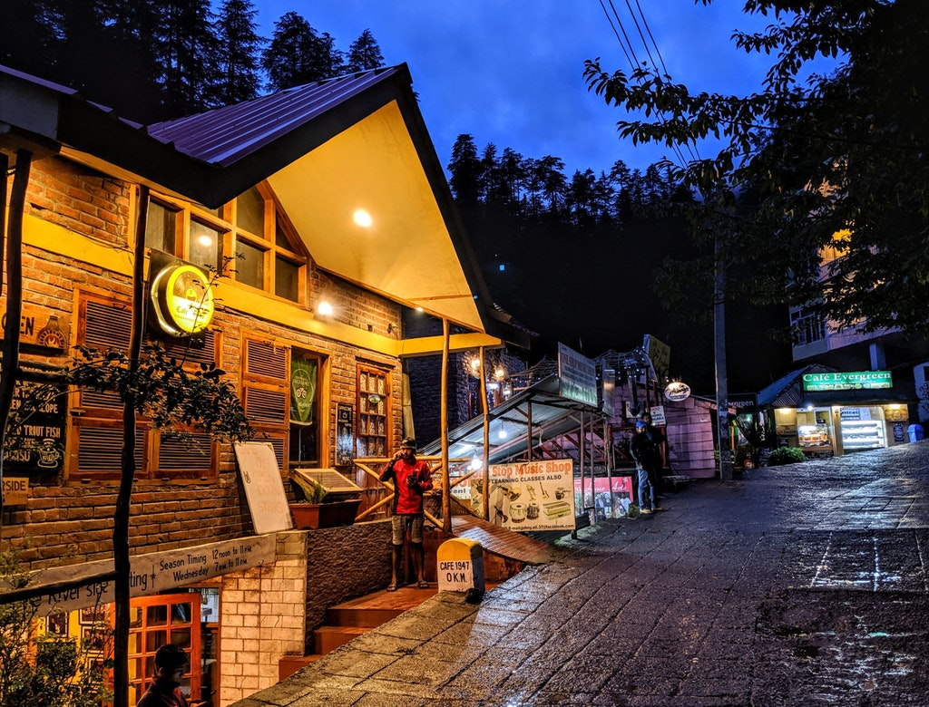 The streets of Manali