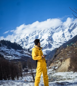 a mountain climber and mountains