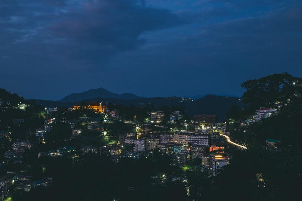 shimla city at the night time