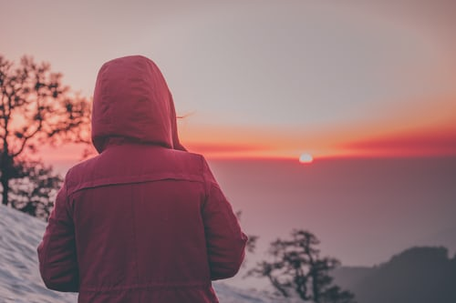 sunset in McLeodganj