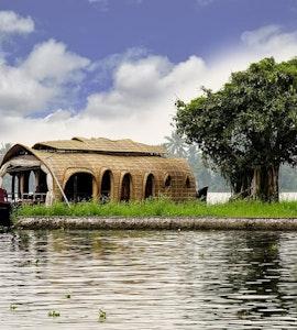 A houseboat in Kumarakom