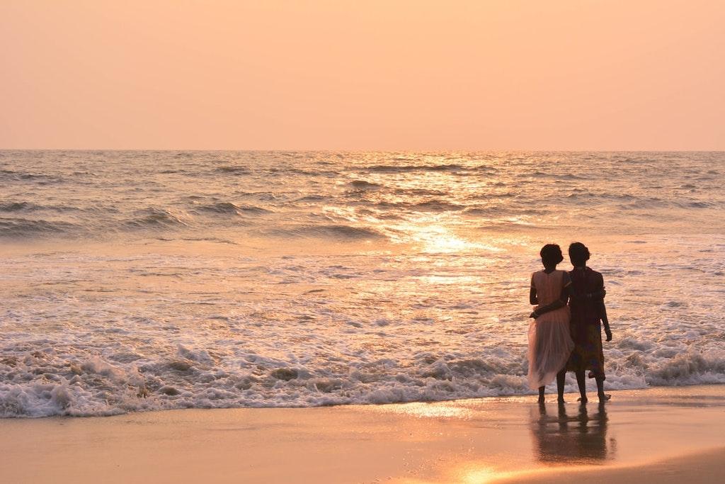 sunset in the Kozhikode beach