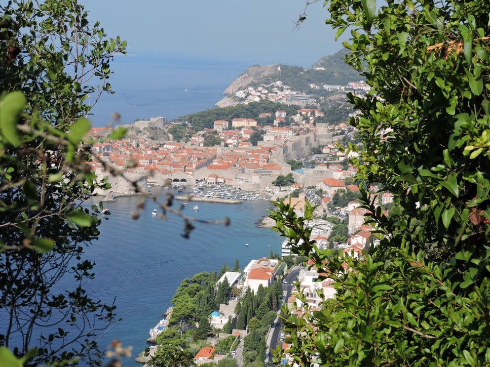 View of the Dubrovnik city