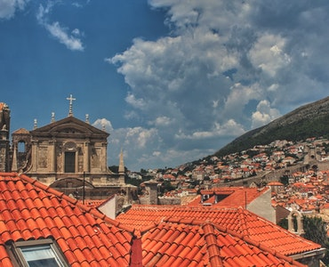 Dubrovnik's old town houses