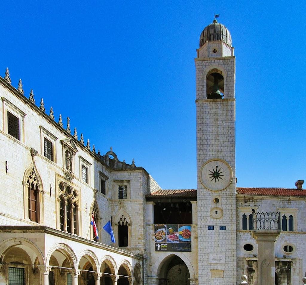 Clock tower in Dubrovnik