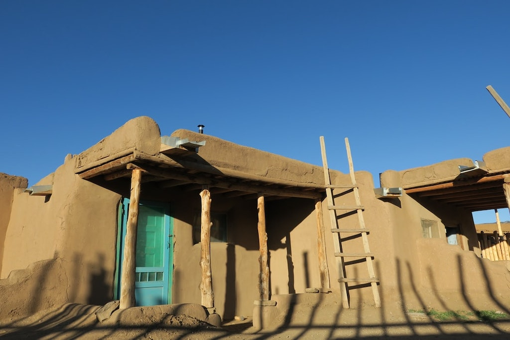 a house in the Taos Pueblo area
