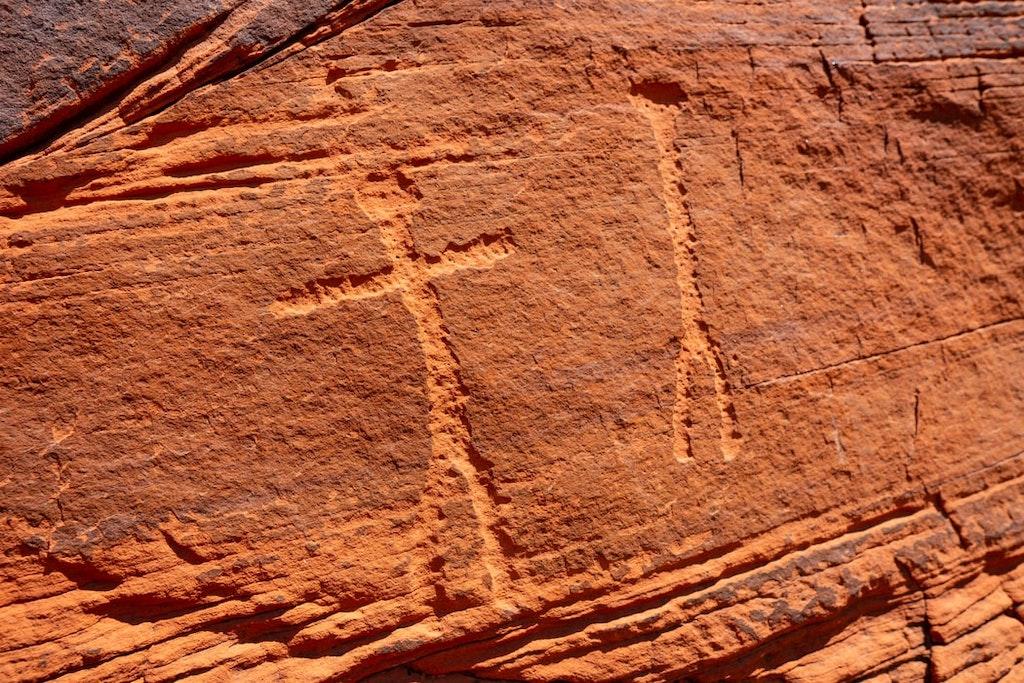 Petroglyphs on wall