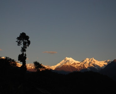 View of Sikkim Mountains