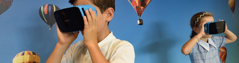 Children enjoying VR games