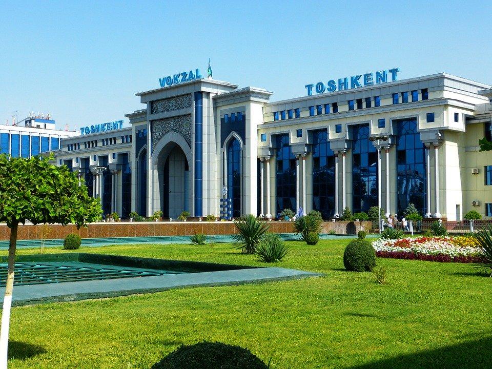 Uzbekistan railway station