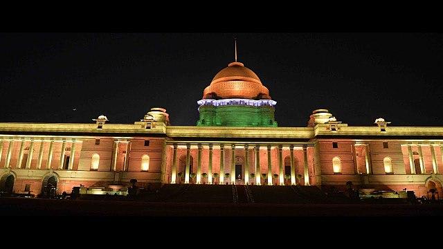 Rashtrapathi bhavan in the night