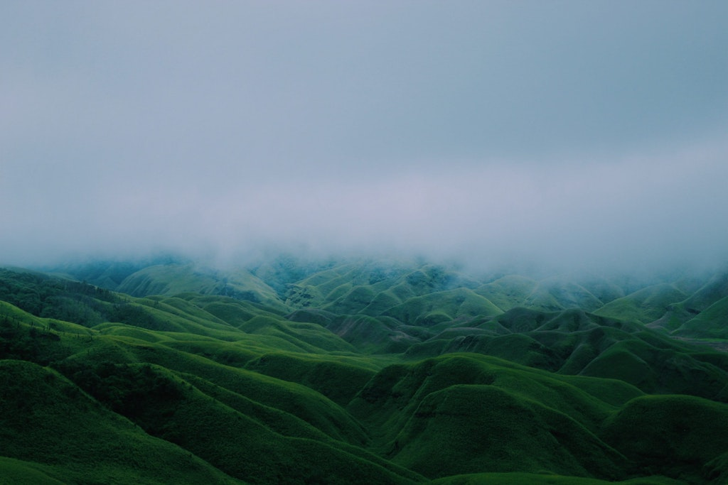 A beautiful picture of green mountains in Nagaland