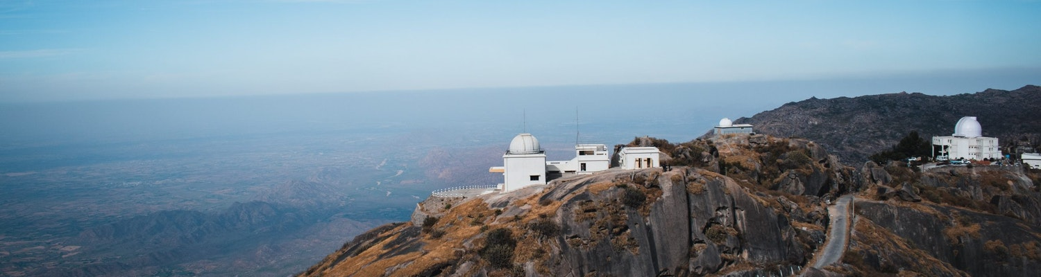 A wideshot of the Hillastation of Mount Abu
