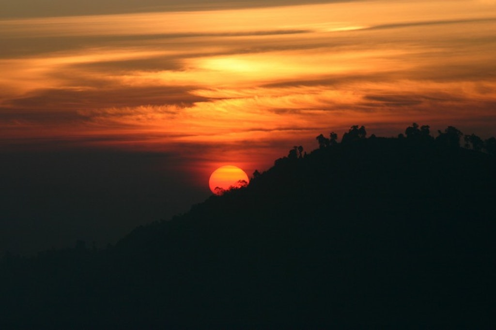 Sun rise from the Hill