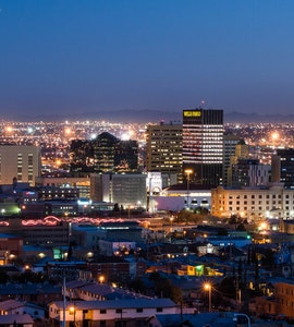 El Paso in the night time