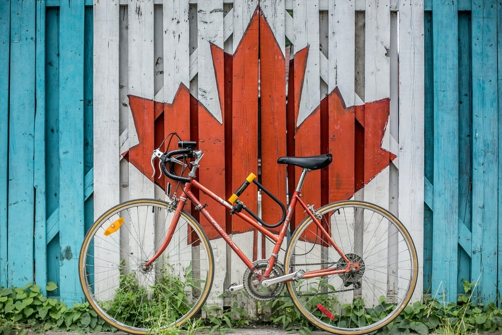 a red bike