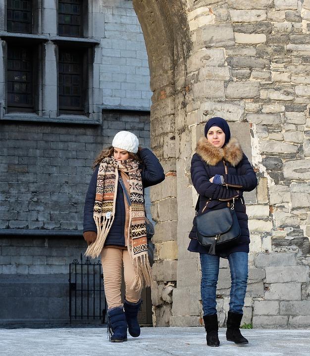 Tourists in Azerbaijan
