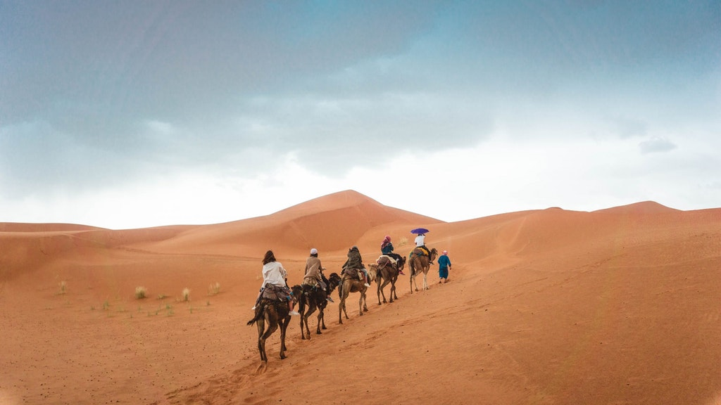 Camel ride in Thar desert