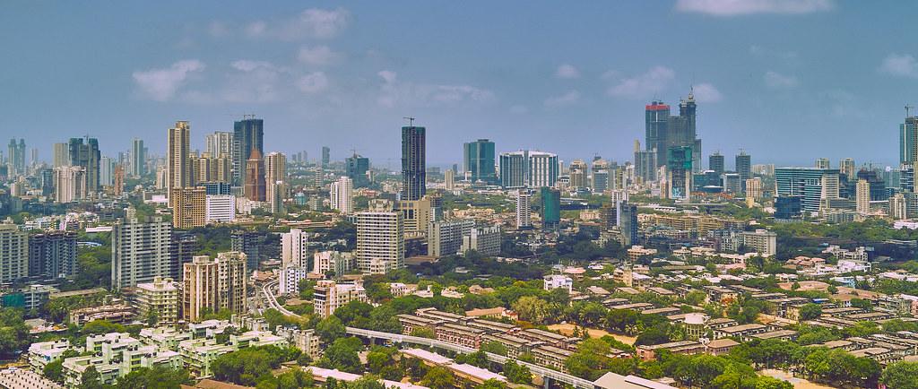 The beautiful skyline of Mumbai