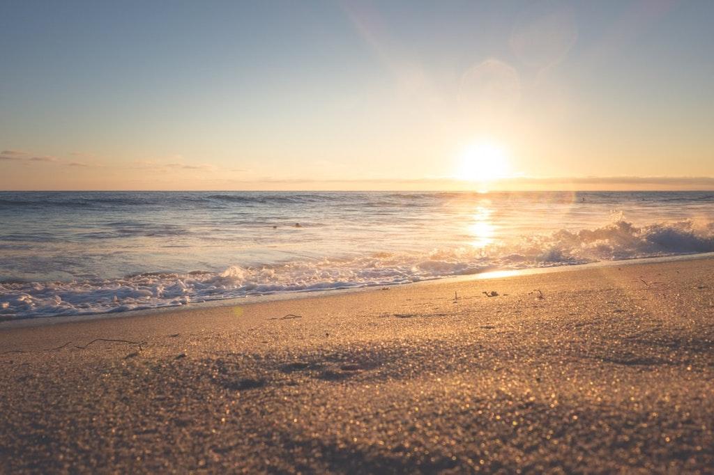Sunset in Sainte Gabriel Beach