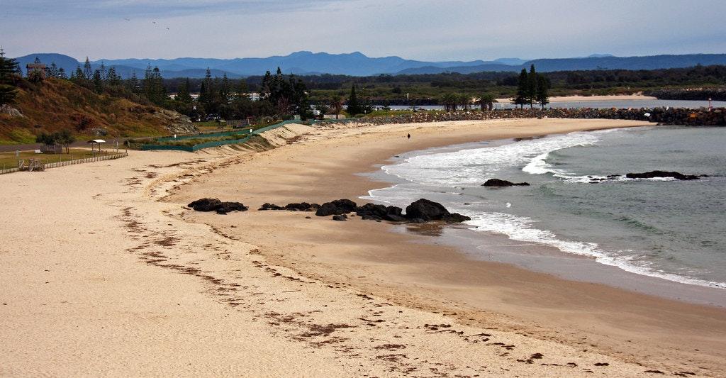 Coastal walk by the Town beach