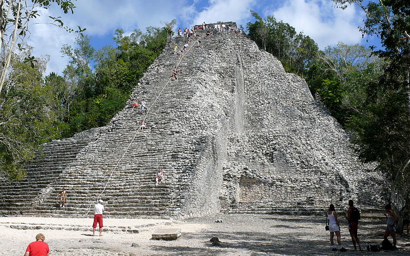 Nohoch Mul pyramid in Mexico