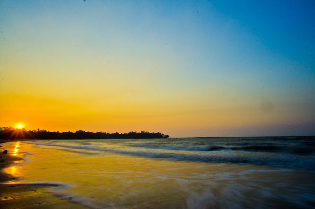 Sunset at the beautiful Mandwa Beach