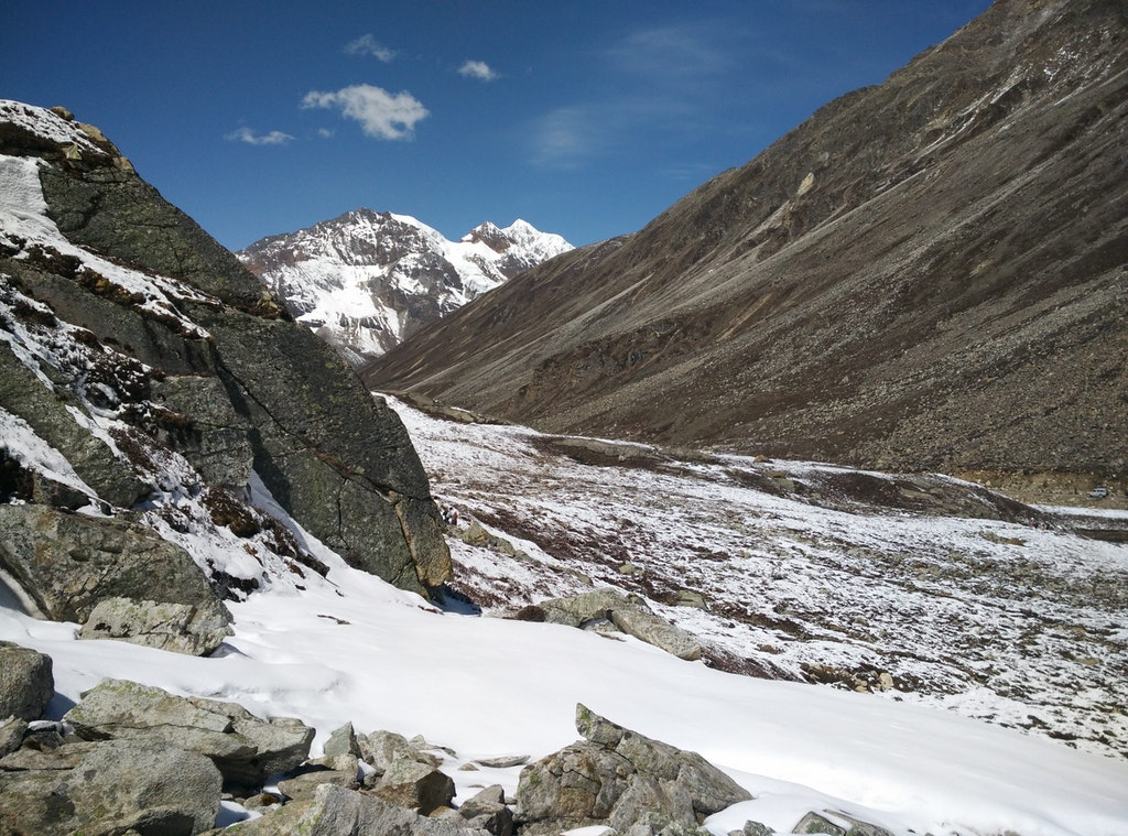 Zero point in Yumthang Valley, Sikkim