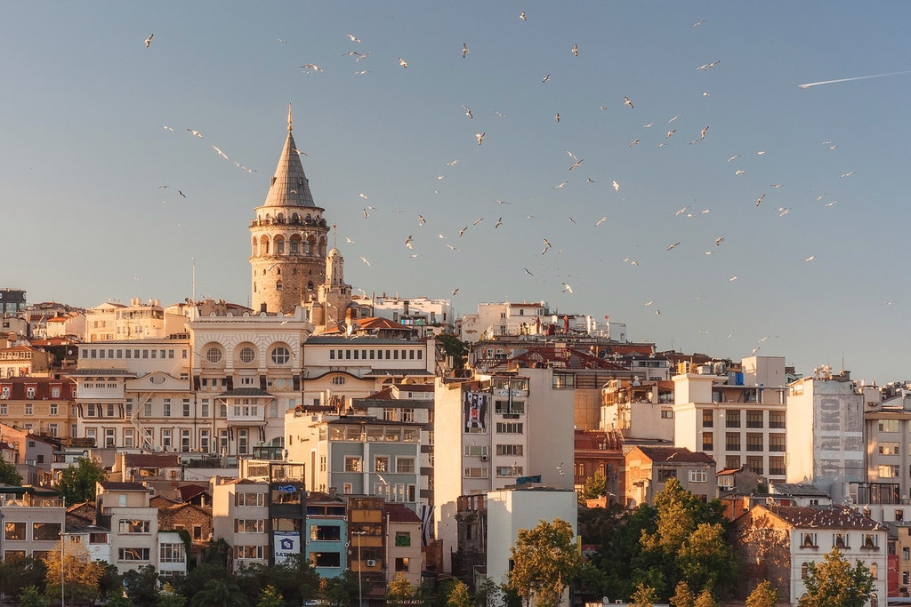 Buildings in Turkey.
