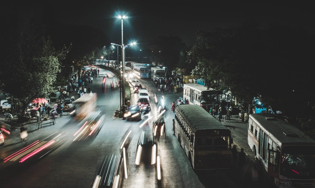 The busy roads of Pune, Maharashtra
