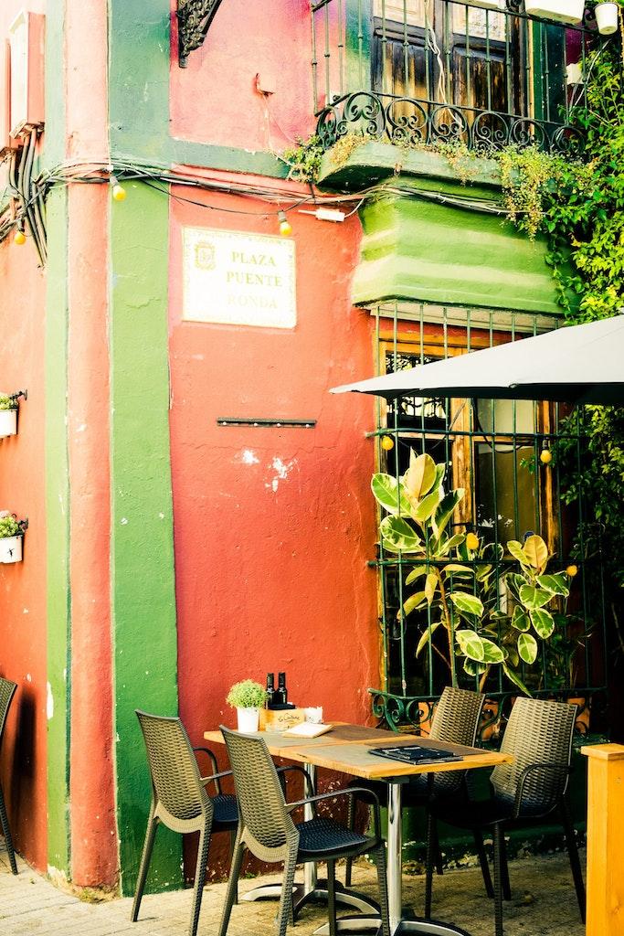 Cafe in Marbella