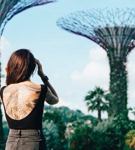 A lady in Gardens by the Bay
