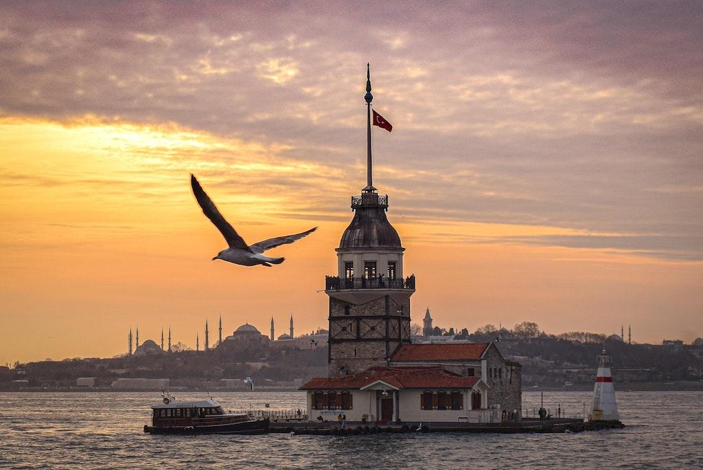 Sunset at Istanbul, Turkey