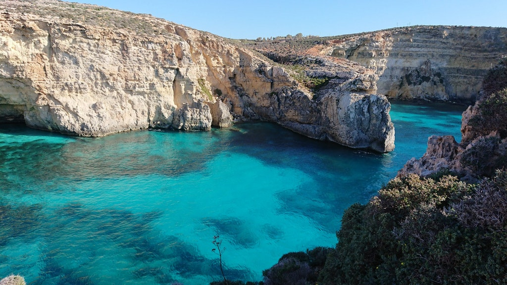 A view of a cove