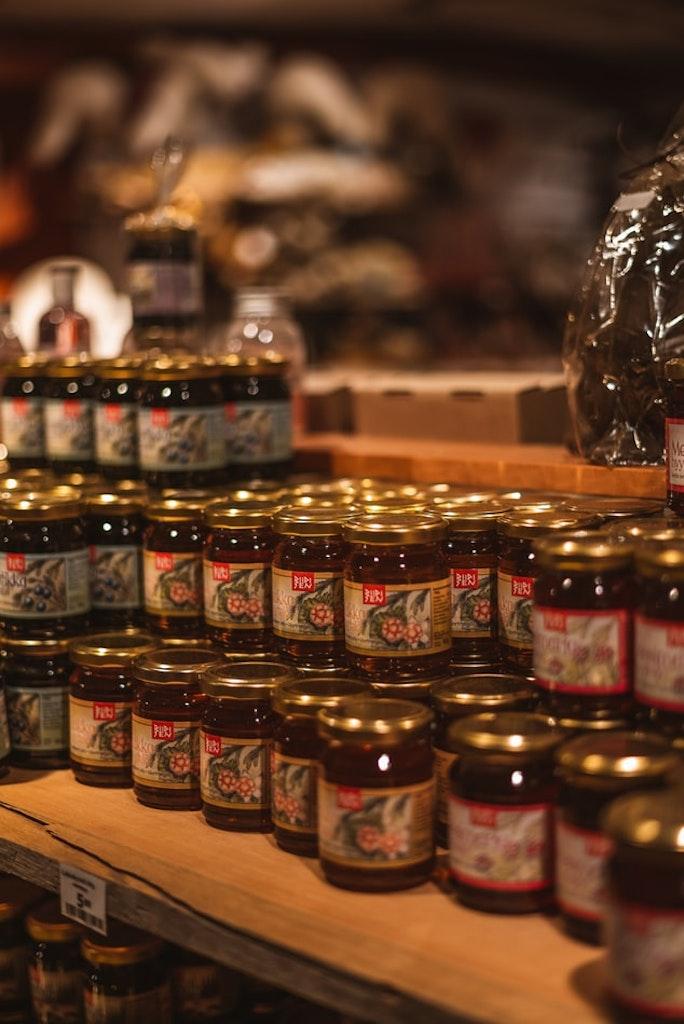 bottles of Kaya jam