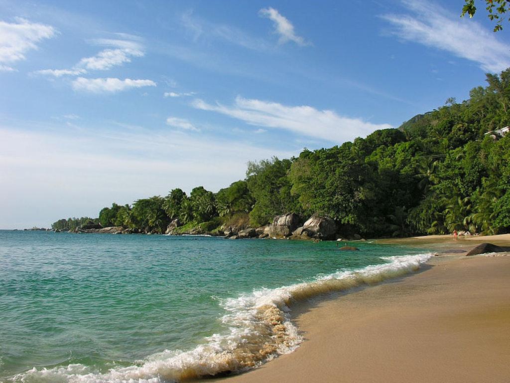 Beau vallon city in Seychelles