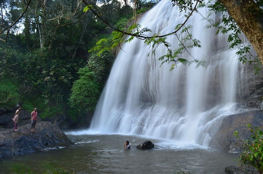 Chelavara waterfalls in Coorg