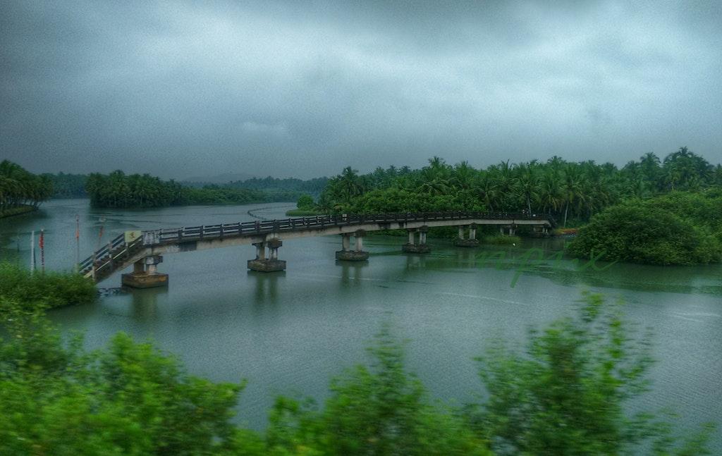 A bridge on a lake
