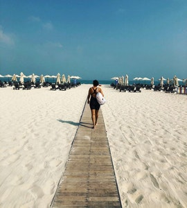 beach visit during our staycation to Dubai