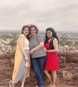 family picture during out staycation to Neemrana