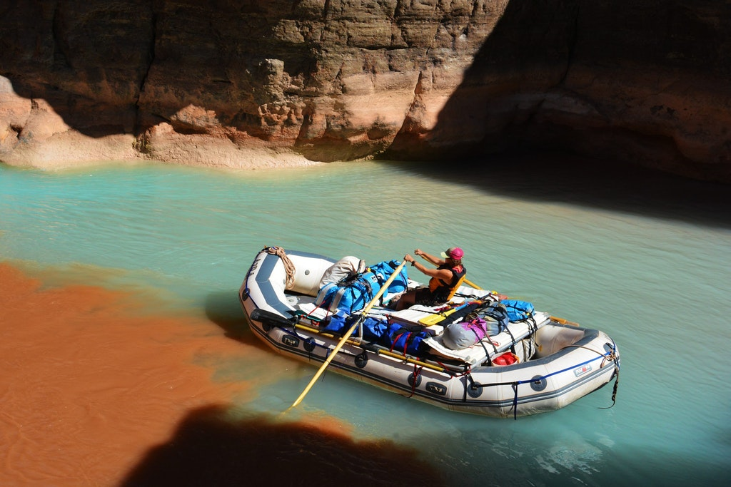 Boating at the Colorado River.