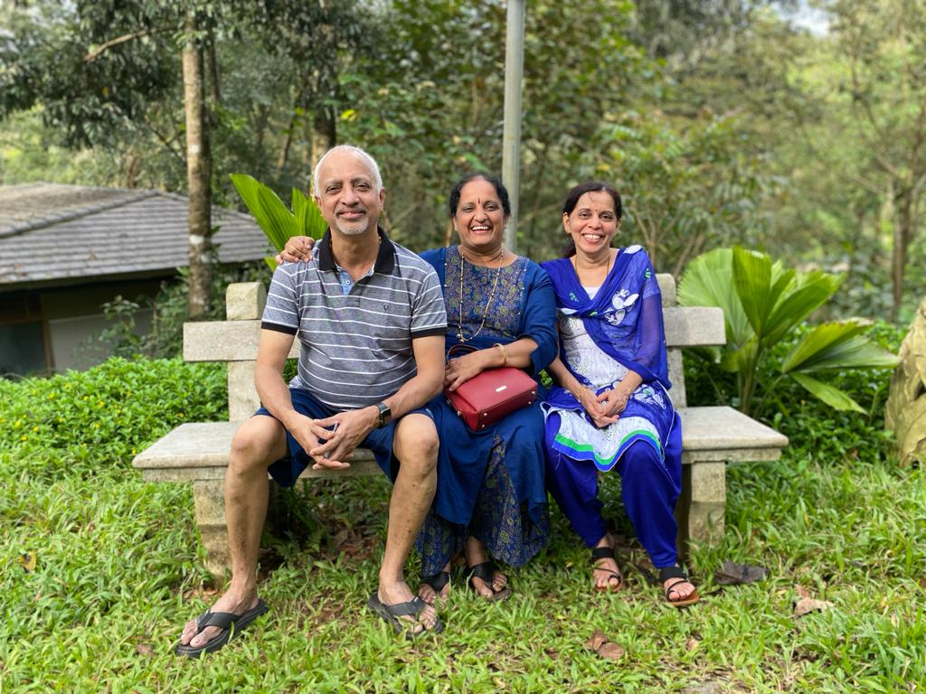 our parents during staycation to Coorg