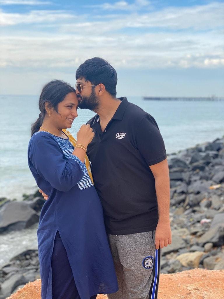 beach visit during staycation to Pondicherry