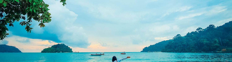 A girl in Pangkor Island