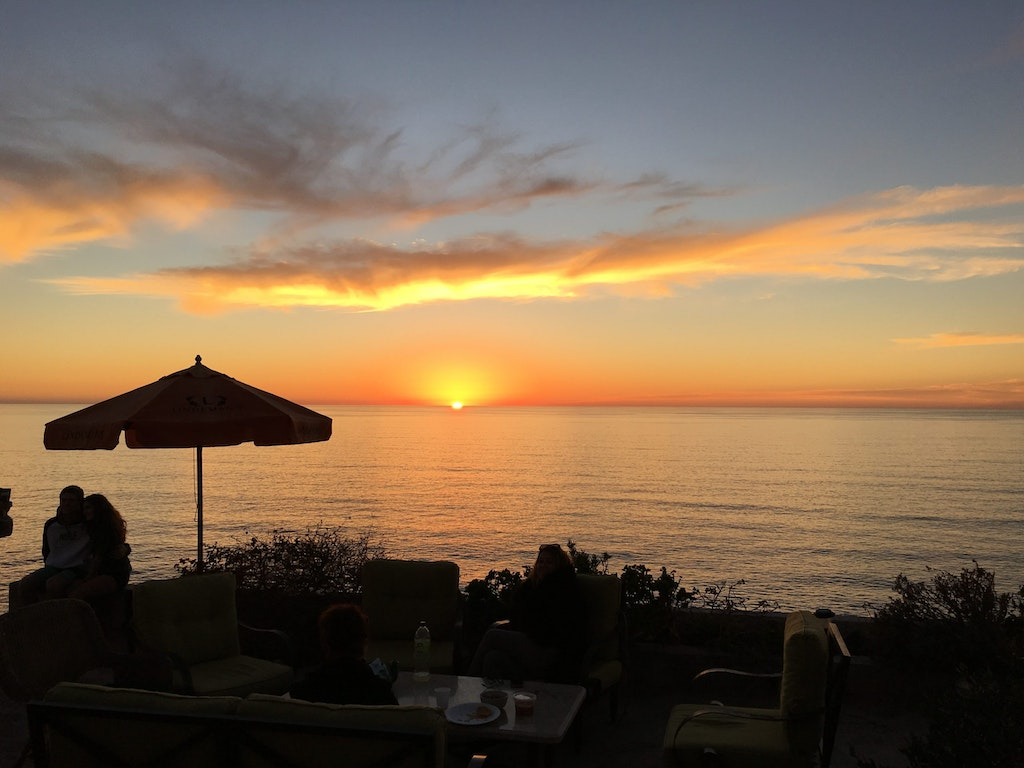 The beautiful sunset in Rosarito.